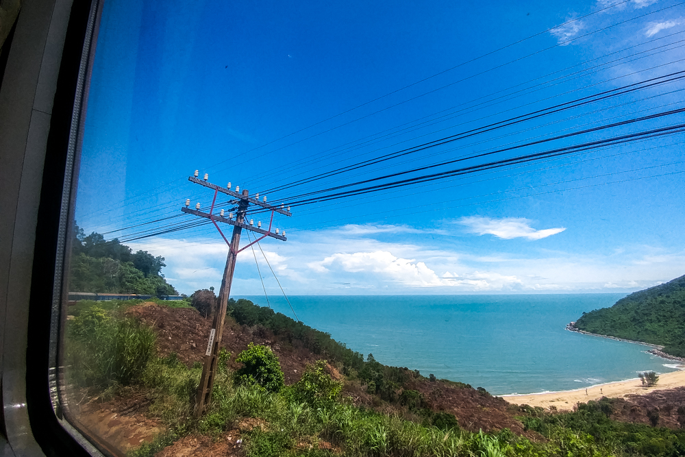 Our train crossing the stunning Hi Van Pass on our way to Da Nang.